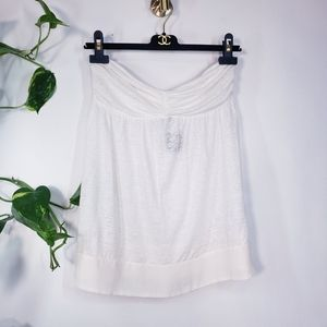 Nwt CLUB MONACO Linen off shoulder strapless top S